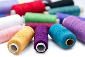 Sewing threads in various colors