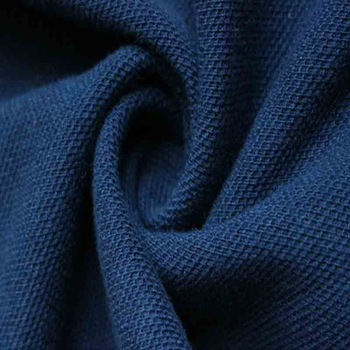 a blue-colored double knit fabric