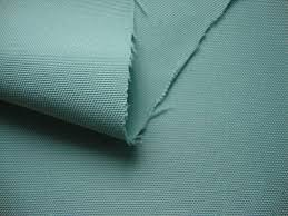 A blue green polyester fabric