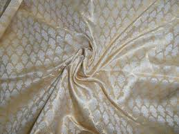 A smooth brocade fabric
