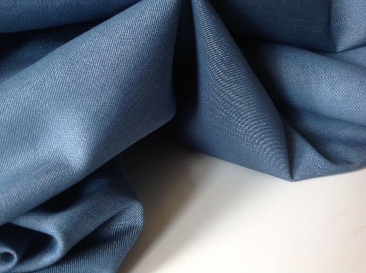 A cloth made from chambray fabric.
