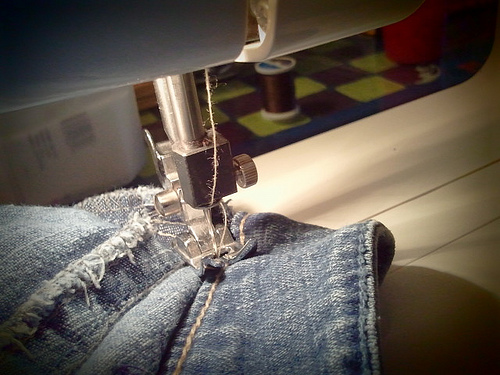 Secret tips to get better at sewing a pair of jeans.