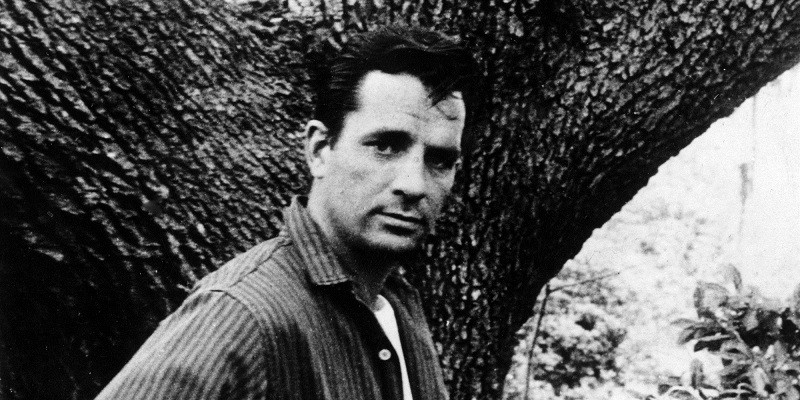 A black and white photo of Jack Kerouac.