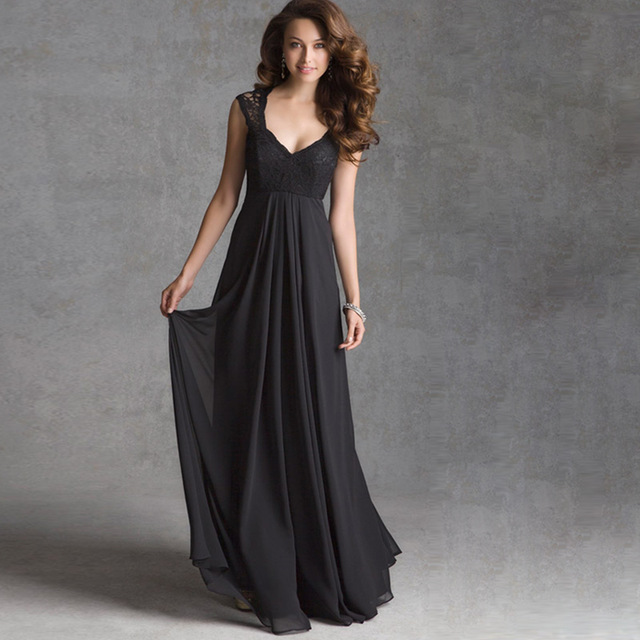 A woman wearing an Elegant dress.