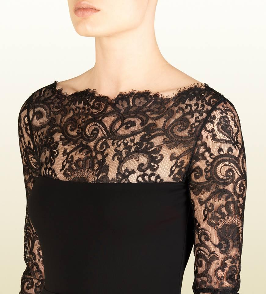 A woman wearing a Lace dress.