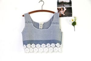 Sew your own cropped top without spending a penny