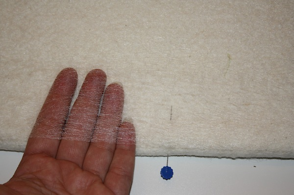 A sewing technique called hand basting.