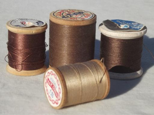 Cotton sewing threads.