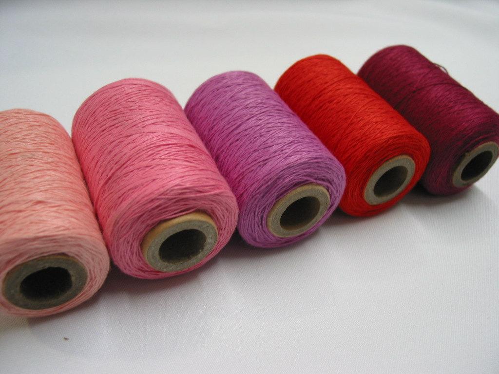 Heavy duty sewing threads.