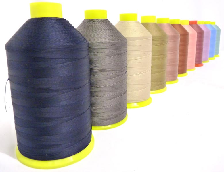 Nylon sewing threads.