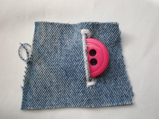 Adding buttonholes.