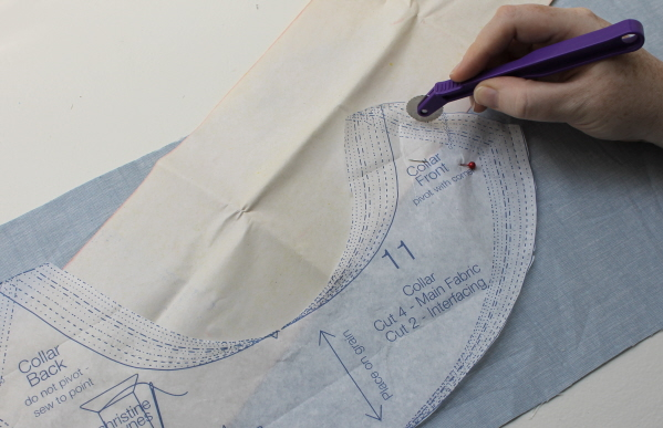 Sewing patterns and pattern marks.